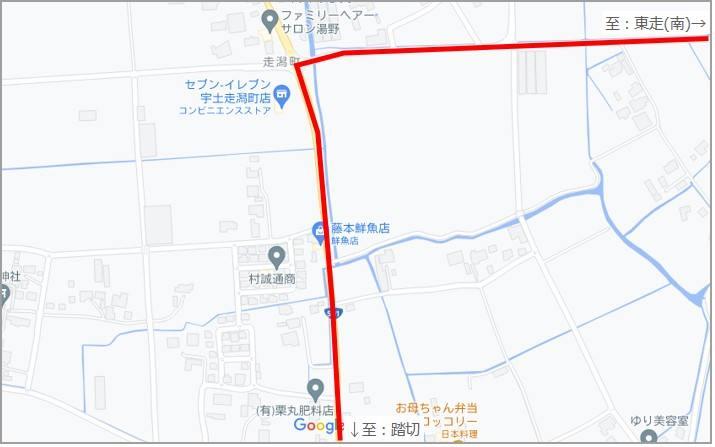 改正前の地図