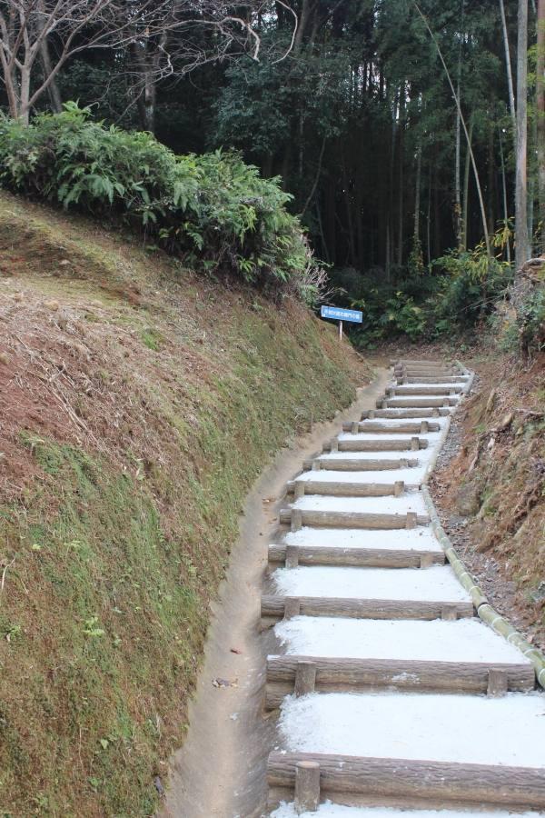 不知火諾右衛門の墓の階段の写真