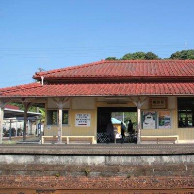 網田駅の全景写真です