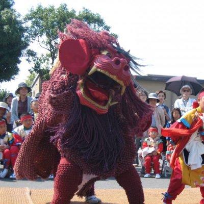 宇土御獅子舞の写真