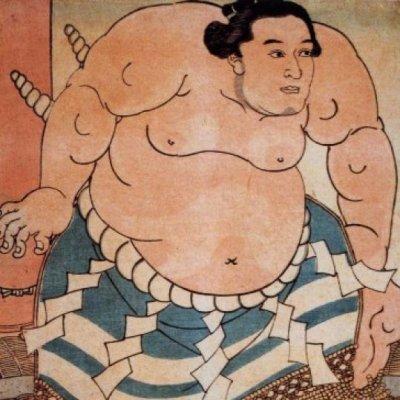 不知火諾右衛門(将軍徳川家慶の上覧相撲 での土俵入りを描いた綿絵)の画像