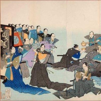 正月に江戸城内でおこなわれた「御流頂戴」の様子