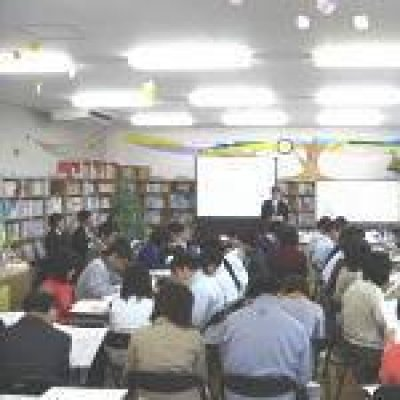 平成20年4月16日教職員への基本設計説明会開催の様子の写真です