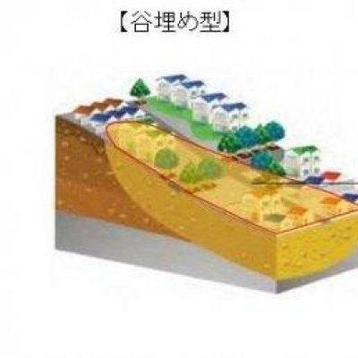 谷埋め型と腹付け型の説明図